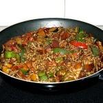 El wok.