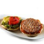Una hamburguesa deliciosa.