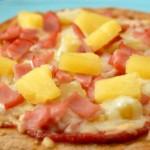 Una pizza deliciosa.