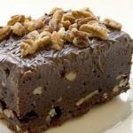 Bizcocho de chocolatey nueces