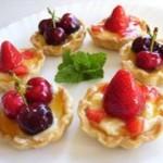 Tarteletas de queso y frutas para San Valentin