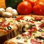 Una deliciosa pizza.