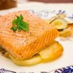 Delicioso salmón al horno.