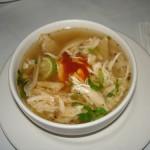 Una deliciosa sopa de pollo.