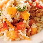 Un arroz muy colorido.