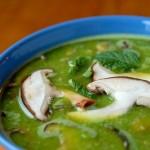 Deliciosa sopa de champiñones.