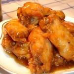 Una receta con alas de pollo.