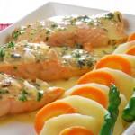 Una preparación con salmón.
