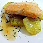 Una receta con pescado.