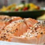 Una delicia con salmón.