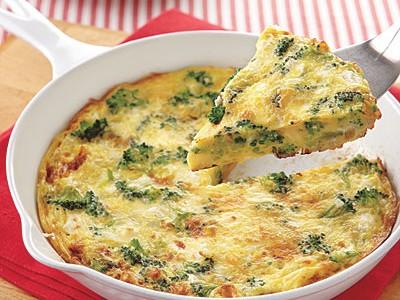 Receta f cil frittata de br coli y jam n - Comida vegetariana facil de preparar ...
