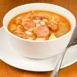 Deliciosa sopa de frijoles.