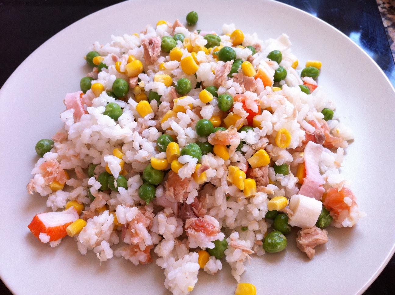 Ensalada de arroz y ma z - Ensalada de arroz light ...