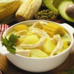 Una sopa cubana.