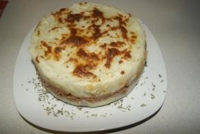 Pastel de carne gratinado al horno
