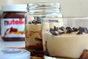 Tiramisú de Nutella con pepitas de chocolate