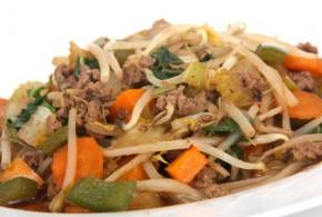 Chop Suey de carne de res